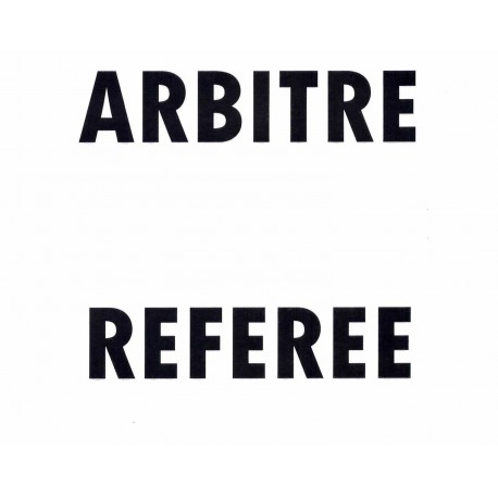 INSCRIPTION ARBITRE ou REFEREE