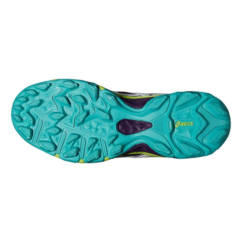 Paire de chaussures ASICS Gel Lethal MP6 plum white blue green HockeyShop