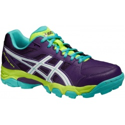Paire de chaussures ASICS Gel Lethal MP6 plum white blue green