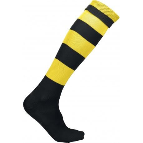 Paire de chaussettes rayées