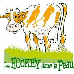 T-SHIRT LE HOCKEY DANS LA PEAU
