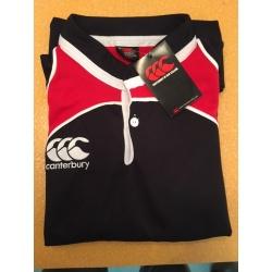 Maillot de jeu Rugby LANDSDOWNE Noir rouge